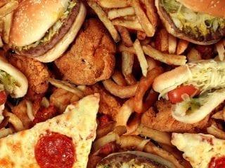 Nahaufnahme von verschiedenem Fast Food
