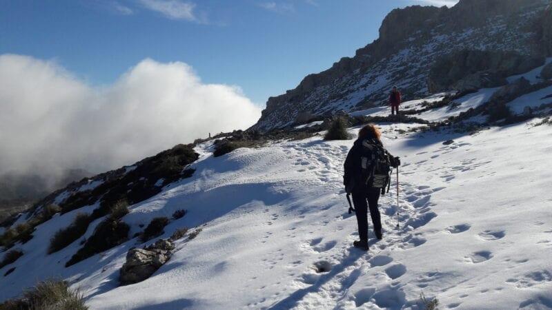 Bergwanderer im Schnee