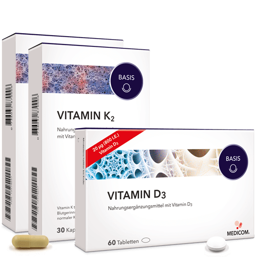 Knochen-Duo – von Medicom mit Vitamin D3 und Vitamin K2