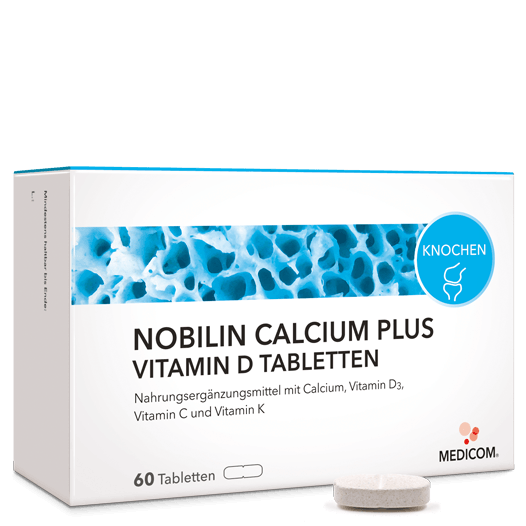 Nobilin Calcium Plus Vitamin D Tabletten: Sinnvolle Kombination – für die Knochen