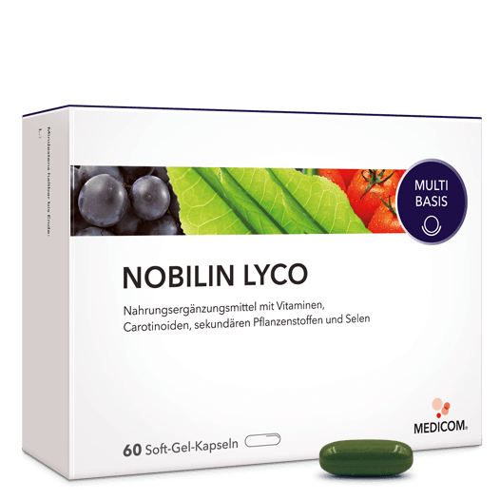 Nobilin Lyco: Hochwertige Kombination – sekundäre Pflanzenstoffe plus Vitamin C, E und Selen