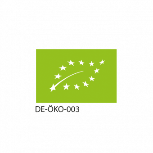 Shatavari ist ein biozertifiziertes Produkt. EU-Bio-Siegel und deutscher Öko-Kontrollstellencode