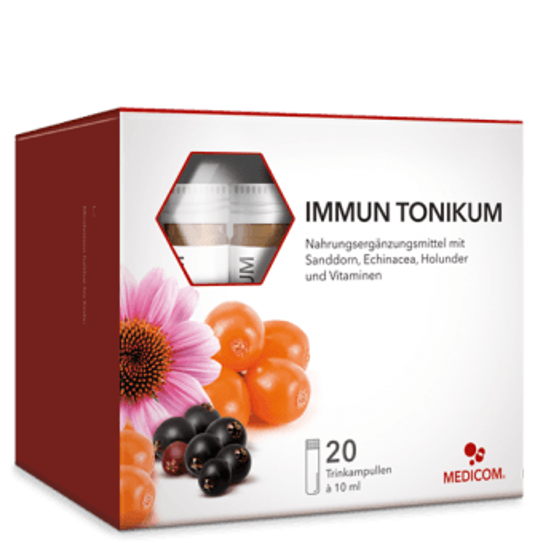 Immun Tonikum – Trinkampulle mit Sanddorn, Echinacea und Holunderbeere