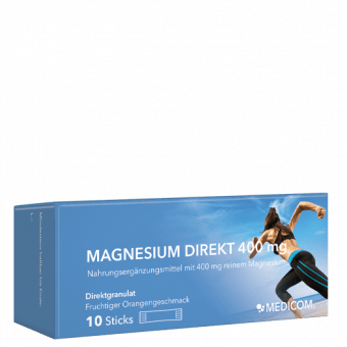 Die Probepackung von Magnesium Direkt 400 mg von Medicom
