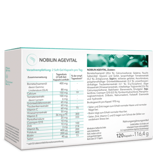 Nobilin Agevital – Schönheitsvitamine mit Biotin
