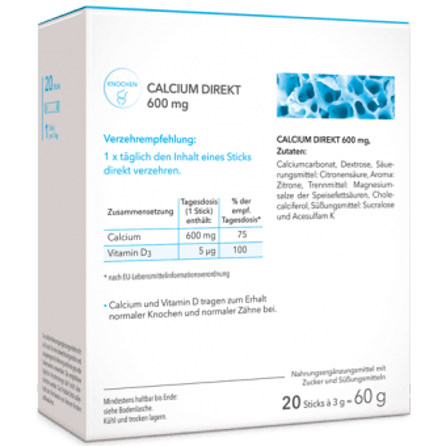 Calcium Sticks Direktgranulat Einnahme ohne Wasser