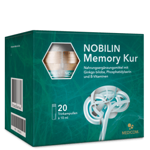 Nobilin Memory Kur - die flüssige Kur für Dein Gehirn