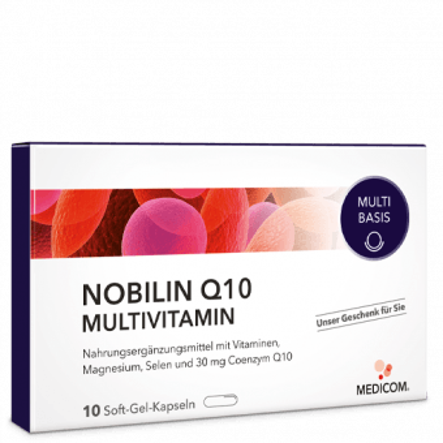 Die Probepackung des Bestsellers von Medicom Nobilin Q10 Multivitamin