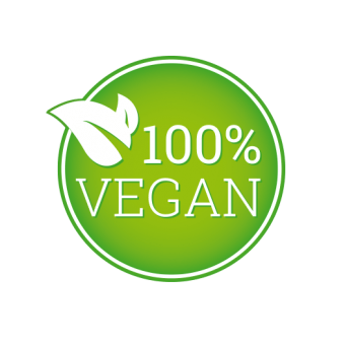 grünes 100% vegan Siegel von Medicom